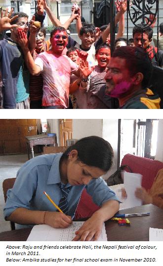 Above: Raju & friends, Below: Ambika